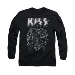 Image for Kiss Long Sleeve T-Shirt - Skull