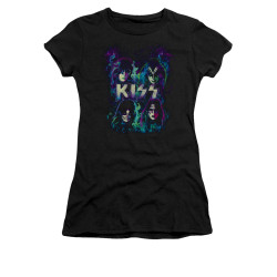 Image for Kiss Girls T-Shirt - Colorful Fire