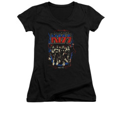 Image for Kiss Girls V Neck T-Shirt - Destroyer