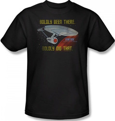 Image Closeup for Star Trek T-Shirt - Boldly Been There, Boldly Did That