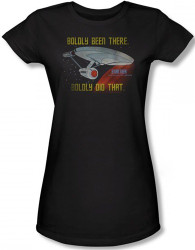 Image for Star Trek Girls T-Shirt - Boldly Been There, Boldly Did That