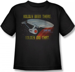 Image for Star Trek Kids T-Shirt - Boldly Been There, Boldly Did That