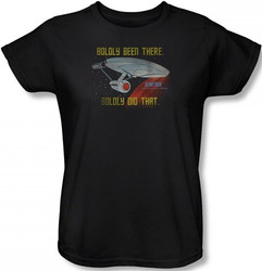 Image for Star Trek Womans T-Shirt - Boldly Been There, Boldly Did That