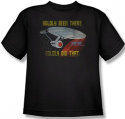 Image for Star Trek Youth T-Shirt - Boldly Been There, Boldly Did That