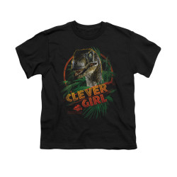 Image for Jurassic Park Youth T-Shirt - Clever Girl
