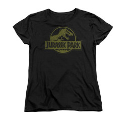 Image for Jurassic Park Woman's T-Shirt - Distressed Logo