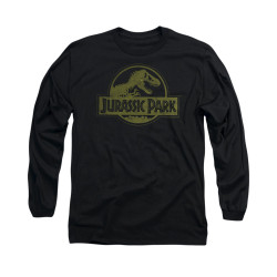 Image for Jurassic Park Long Sleeve T-Shirt - Distressed Logo