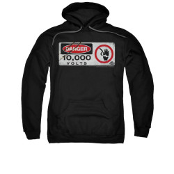 Image for Jurassic Park Hoodie - Electric Fence Sign