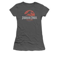 Image for Jurassic Park Girls T-Shirt - Faded Logo