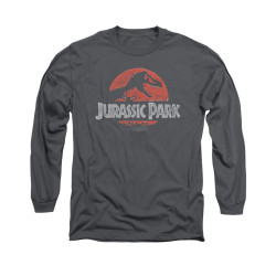 Image for Jurassic Park Long Sleeve T-Shirt - Faded Logo