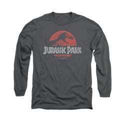 Image for Jurassic Park Long Sleeve T-Shirt - Faded Logo
