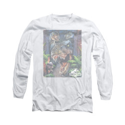 Image for Jurassic Park Long Sleeve T-Shirt - Giant Door