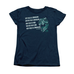 Image for Jurassic Park Woman's T-Shirt - God Creates Dinosaurs