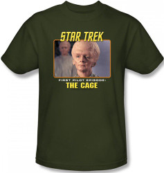 Image Closeup for Star Trek Episode T-Shirt - Episode Pilot The Cage