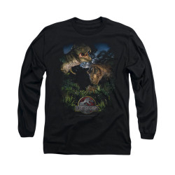 Image for Jurassic Park Long Sleeve T-Shirt - Happy Family