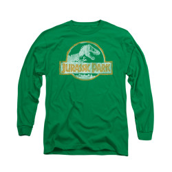 Image for Jurassic Park Long Sleeve T-Shirt - Jurassic Park Orange