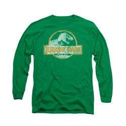 Image for Jurassic Park Long Sleeve T-Shirt - Jurassic Park Orange