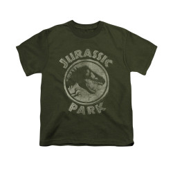 Image for Jurassic Park Youth T-Shirt - Jurassic Park Stamp
