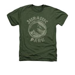 Image for Jurassic Park Heather T-Shirt - Jurassic Park Stamp