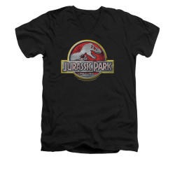 Image for Jurassic Park V-Neck T-Shirt - Logo