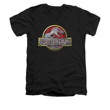 Image for Jurassic Park V-Neck T-Shirt - Logo