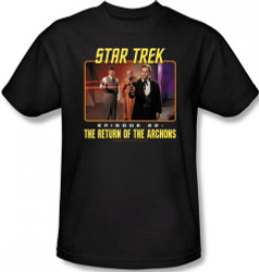 Image Closeup for Star Trek Episode T-Shirt - Episode 22 The Return of the Archons