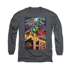 Image for Jurassic Park Long Sleeve T-Shirt - Rex in the City