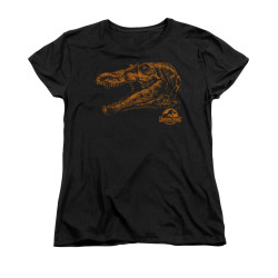Image for Jurassic Park Woman's T-Shirt - Spino Mount