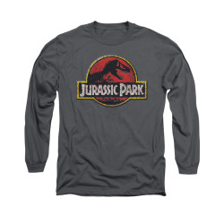 Image for Jurassic Park Long Sleeve T-Shirt - Stone Logo