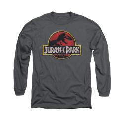 Image for Jurassic Park Long Sleeve T-Shirt - Stone Logo