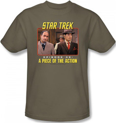 Image Closeup for Star Trek Episode T-Shirt - Episode 49 A Piece of the Action