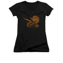 Image for Jurassic Park Girls V Neck T-Shirt - Tri Mount