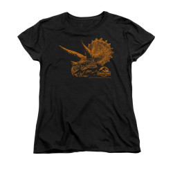 Image for Jurassic Park Woman's T-Shirt - Tri Mount