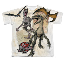 Image for Jurassic Park Sublimated Youth T-Shirt - Dino Drawings