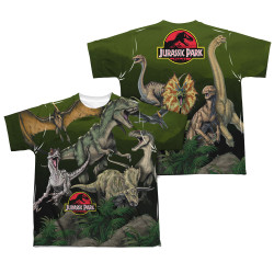 Image Closeup for Jurassic Park Sublimated Youth T-Shirt - Pack of Dinos