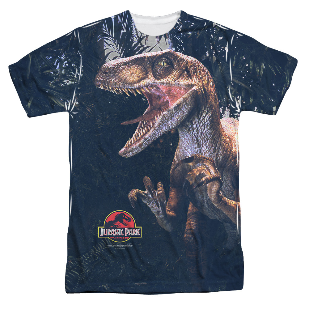 Jurassic Park T Shirt Sublimated Raptors Nerdkungfu