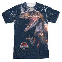 Image for Jurassic Park Sublimated T-Shirt - Raptors 100% Polyester