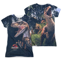 Image Closeup for Jurassic Park Girls Sublimated T-Shirt - Raptors