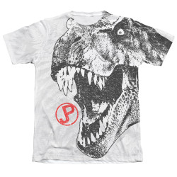 Image Closeup for Jurassic Park Sublimated T-Shirt - T Rex Head