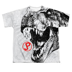 Image for Jurassic Park Sublimated Youth T-Shirt - T Rex Head
