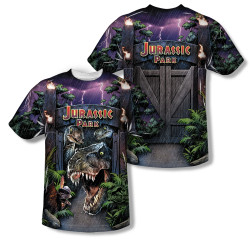 Image Closeup for Jurassic Park Sublimated Youth T-Shirt - Welcome to the Park