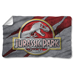 Image for Jurassic Park Fleece Blanket - Slash Logo