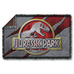 Image for Jurassic Park Woven Throw Blanket - Slash Logo