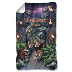 Image for Jurassic Park Fleece Blanket - Welcome to the Park