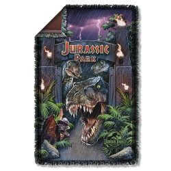 Image for Jurassic Park Woven Throw Blanket - Welcome to the Park