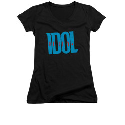 Image for Billy Idol Girls V Neck T-Shirt - Logo