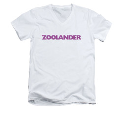 Image for Zoolander V-Neck T-Shirt - Logo