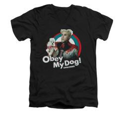 Image for Zoolander V-Neck T-Shirt - Obey My Dog