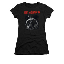 Image for Sons of Anarchy Girls T-Shirt - Skull Back