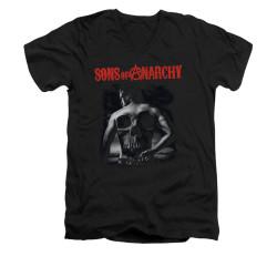 Image for Sons of Anarchy V-Neck T-Shirt - Skull Back